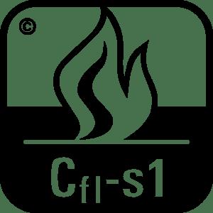 Bedeutung Brandschutz Symbol Cfl-s1 für Teppich Symbol
