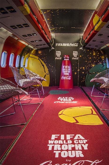 Branding Geschichte mit Teppich - Coco Cola Fifa World Cup Raum