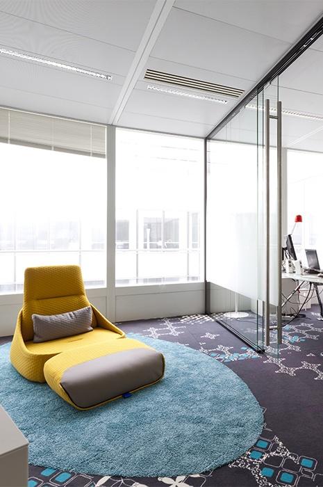 Büroraume mit Teppich - gemütliche Bereiche einrichten