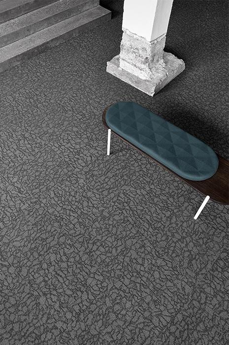 Nachhaltiger grau gemusterter Teppichboden