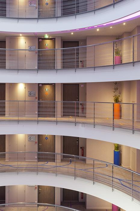 Hotelteppich verbindet die Raumgestaltung und das Design-Konzept des Hotel